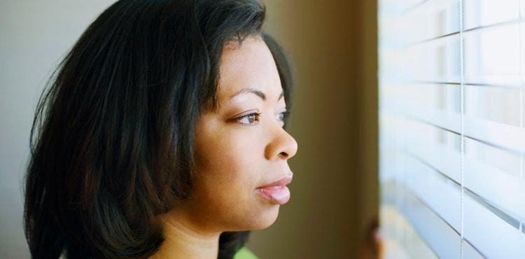 Woman Looking Out Window   Arizona Talcum Powder Cancer Lawsuit