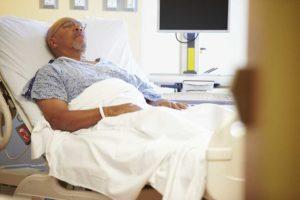 Man in a hospital bed | Colorado Viagra Melanoma Cancer Lawsuit