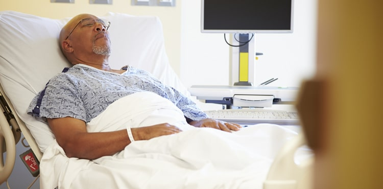 Man in Hospital Bed - Indiana Xarelto Lawsuit