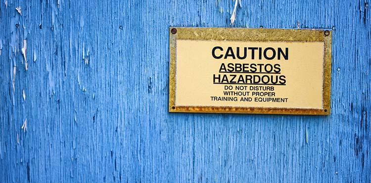 Asbestos Sign | Mesothelioma Asbestos Attorney