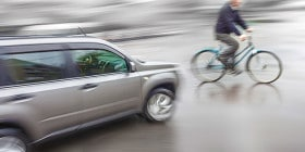 Car About To Hit A Bicycle | Bicycle Accident Attorneys