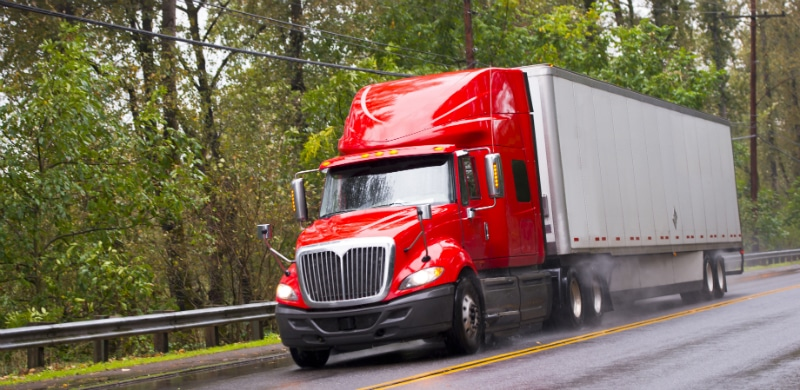 Red Semi Truck | Truck Accident Lawsuit