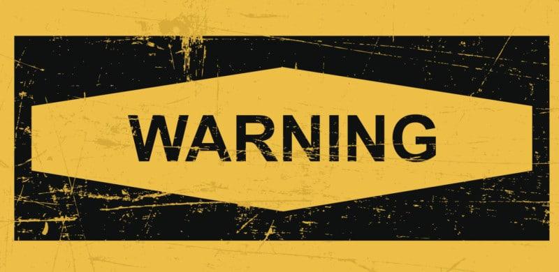 Warning Sign Banner | Recall