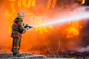 Firefighter Battling a Fire | Fire Starter Gel Lawsuit