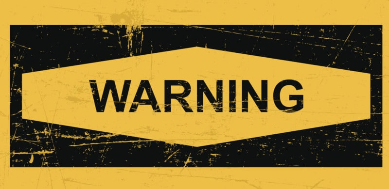Warning sign banner | Recall