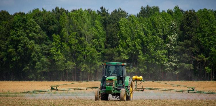 Farmer Spraying Field – Gramoxone Lawsuit
