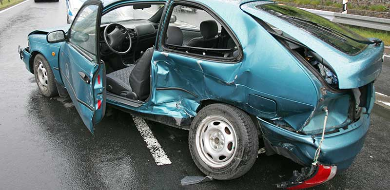 Smashed Up Car | Louisiana Train Accident Attorney